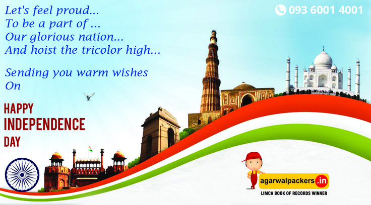 May the glory of Independence Day be with your forever. Celebrate the free spirit of India. Happy 70th Independence Day ♥ Share & 😢 Respect🙏 1 Like (y) Proud to be an Indian Jai hind :) Best Wishes From: Agarwal Packers and Movers - DRS Group  ‪#‎India‬ ‪#‎IndependenceDay‬ ‪#‎August15‬ ‪#‎Bangalore‬ ‪#‎Delhi‬ ‪#‎Mumbai‬ ‪#‎pune‬ ‪#‎hyderabad‬ ‪#‎Gurgaon‬ ‪#‎chennai‬ ‪#‎newdelhi‬