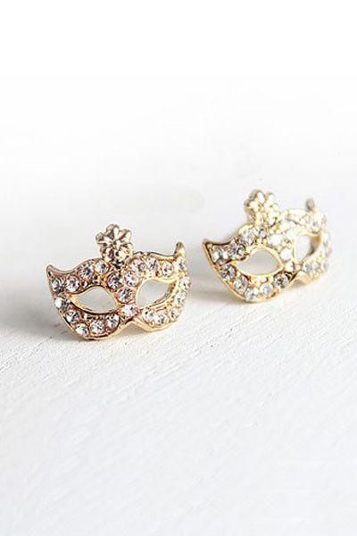 Bohemia Mask Rhinestone Ear Stud... wouldn't they be amazing rings