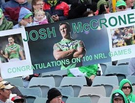 Canberra Raiders in the NRL are encouraging fans to create the best banner at games