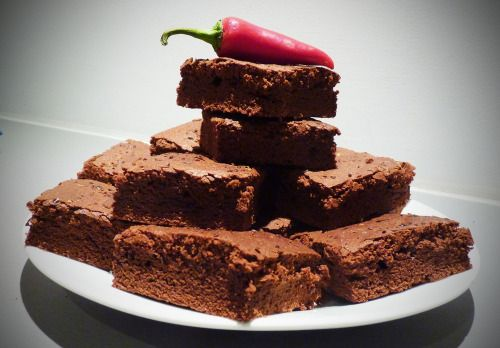 CHILLI CHOCOLATE TEQUILA BROWNIES. Oh yeah.  Here's the recipe: http://www.thelumberjackbaker.com/post/115245973323/chili-pepper-brownie-spicy-brownies-recipe-chocolate