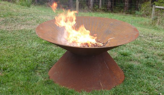 Fire Pit Bowl  Fire Pit Bowl is great for entertaining and sharing with friends. Our fire pits are a must have for those people who like to entertain and create that special ambience when guests come around. They are constructed from 10 mm thick steel and are 1200 mm in dia.