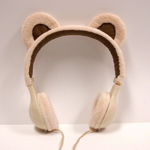 Listen to your music in style? Or just look cute? We don't know but we dig it.