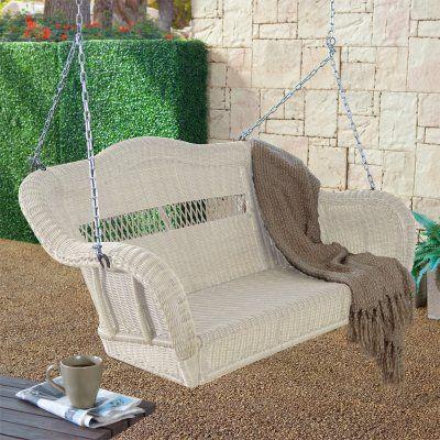 victorian porch glider | ... Porch Swing Almond Cwr152 Porch Swings Resin Wicker Porch Swings Porch