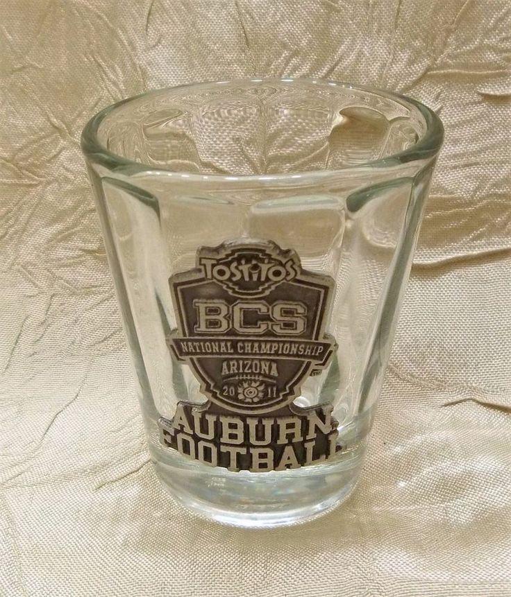 Auburn University 2011 BCS National Championship Pewter Shot Glass Tostitos AZ #AuburnTigers