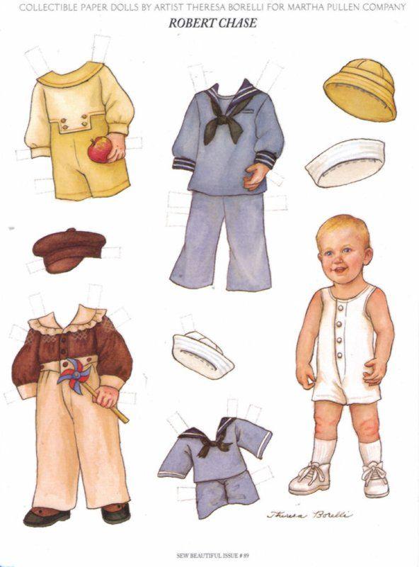 Little boy paper doll