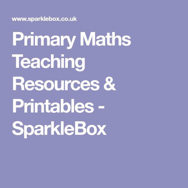 Primary Maths Teaching Resources & Printables - SparkleBox