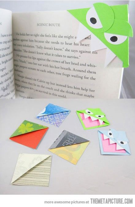 Origami bookmarks...the perfect way to avoid 'dog-ear' page destructor.