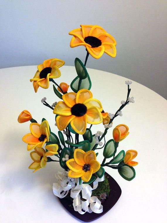 Handmade Nylon Flower Arrangements от LiYunFlora на Etsy