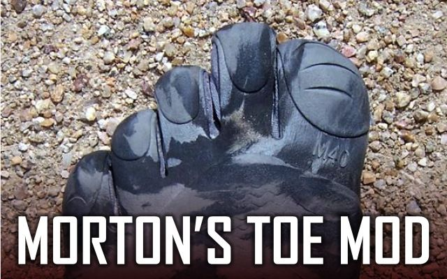 Got Morton's Toe? Lengthen your Vibram Five Fingers' Second Toe.   I need to do this!