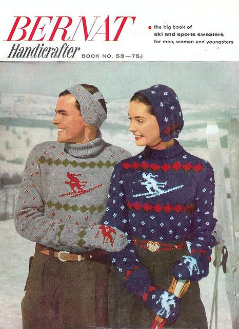 62 Best Vintage Knitting Patterns Winter And Christmas Images On