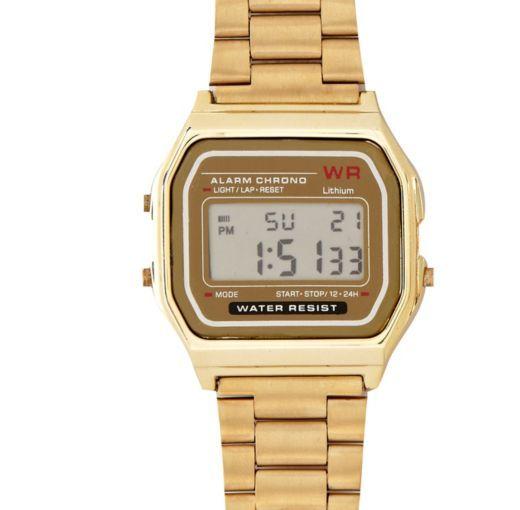 I'm shopping Gold tone digital bracelet watch in the River Island iPhone app.