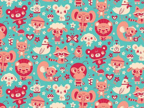 Cute friends by Gaston Caba, via Flickr - animal pattern