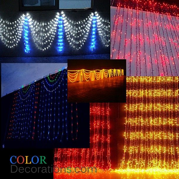 CD DL104 LED Curtain Lights Decorative String Lights Christmas Party  Wedding Decorations   LED Decorative Images