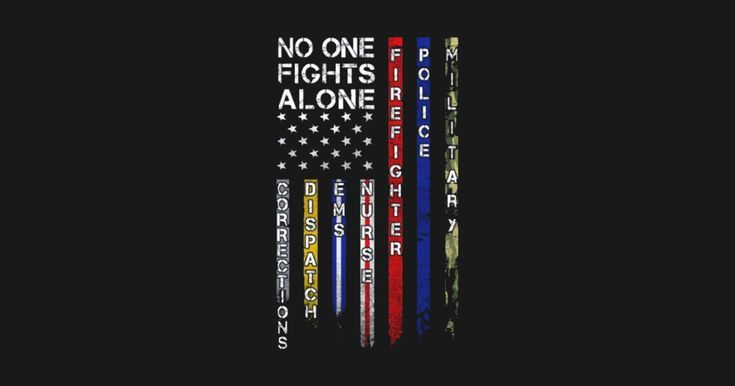 First Responders American Flag Tattoo Fight Alone American Flag Sticker