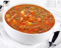 Serves 15, about 20 cups (double this recipe for 30 servings) 4 TBLS olive oil 2 medium onions, chopped 4 carrots, chopped 4 celery stalks, chopped 2 tsp dried rosemary 3 TBSP dried basil or 1/2 cup fresh, chopped 3 TBSP dried parsley or ½ cup fresh, chopped 4 cloves garlic, minced Add above ingredients …