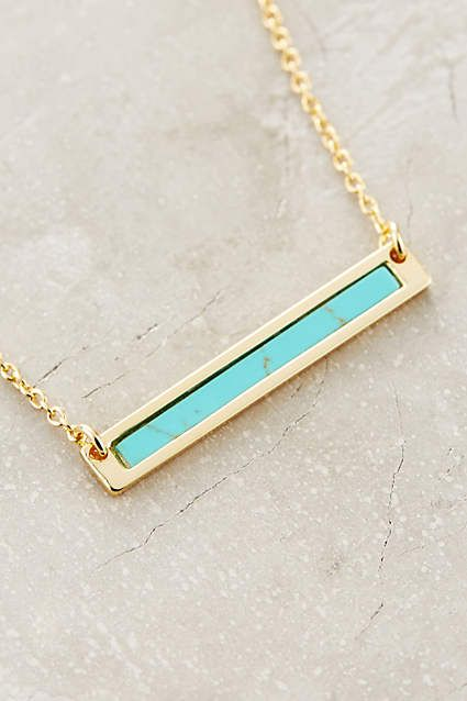 Turquoise Sea Bar Necklace - anthropologie.com