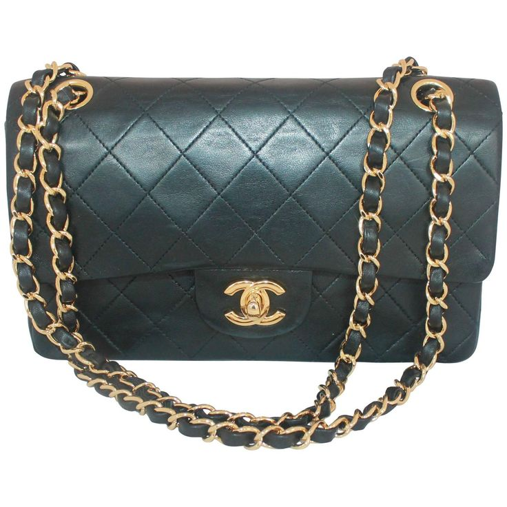 Chanel Black Small Lambskin Double Flap Classic Handbag-GHW-Circa 88 | From a collection of rare vintage crossbody bags and messenger bags at https://www.1stdibs.com/fashion/handbags-purses-bags/crossbody-bags-messenger-bags/
