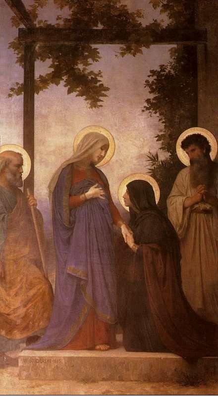 Bouguereau painting of Joseph, Mary, Elizabeth, & Zechariah