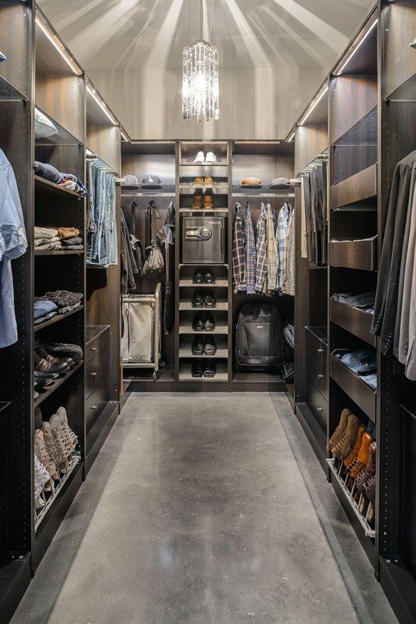 Ultra-Sleek Walk In Closet