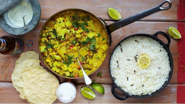 Zeleninové kari z Keraly, © 2012 Jamie Oliver Enterprises Limited Foto: