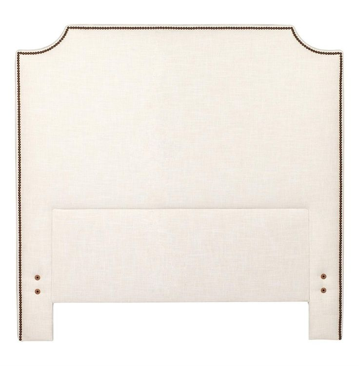 Clara Classic Simple Notched Corner Headboard - Queen | Kathy Kuo Home