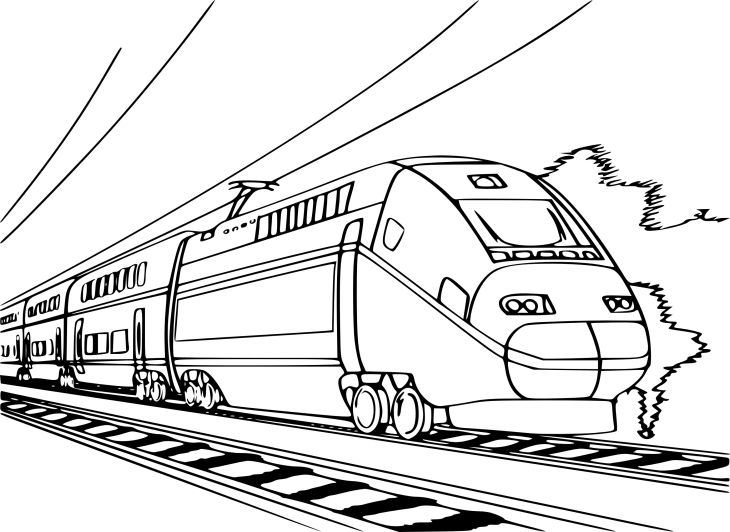 Coloriage Train Tgv Coloriage Train Coloriage