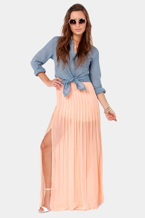 17 best ideas about Peach Maxi Skirts on Pinterest | Bridesmaid ...