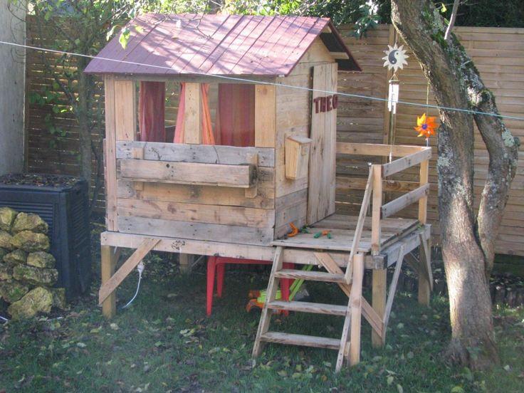 cabane pour enfant en bois de r cup 39 instructions bosch les palettes r cup et d tournement. Black Bedroom Furniture Sets. Home Design Ideas