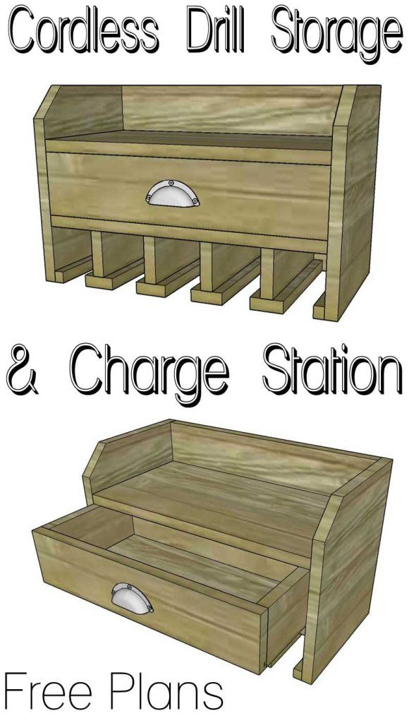 Cordless Drill Storage Charging Station Charging