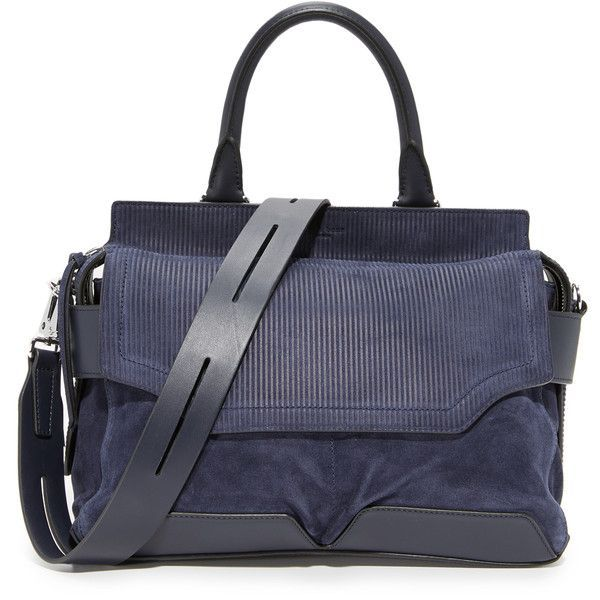Rag & Bone Pilot Satchel found on Polyvore featuring bags, handbags, navy, satchel handbags, navy blue leather handbags, navy purse, leather satchel purse and navy leather purse