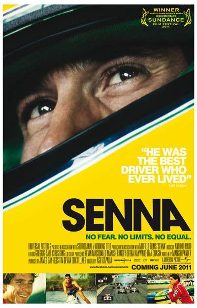 Senna No Fear No Limits No Equal Documentary Film Poster 11x17
