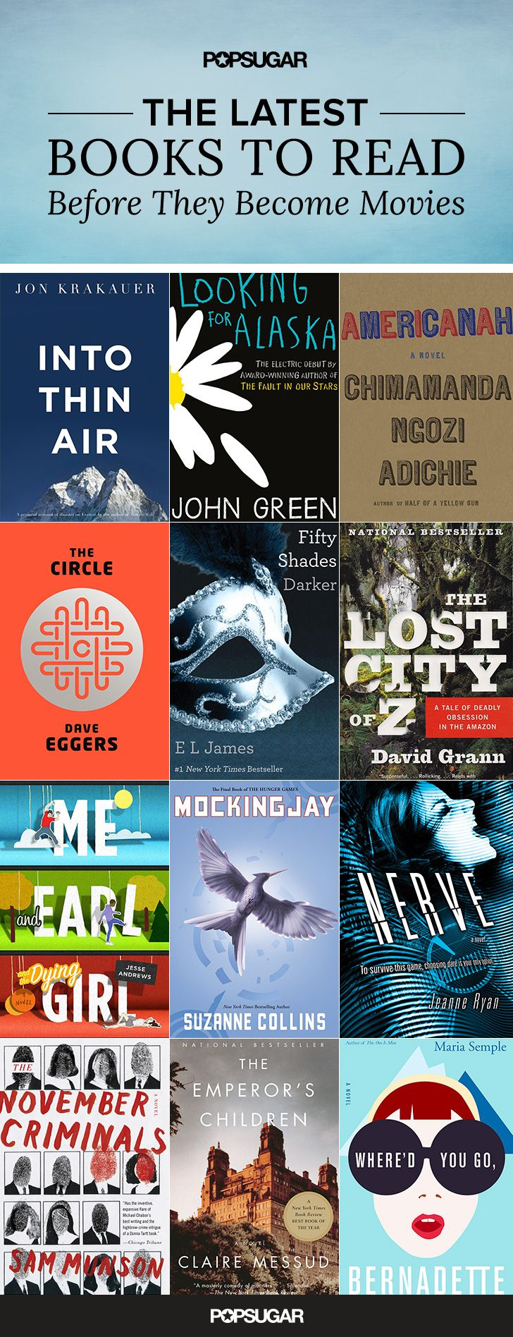 Spring Reading List  60 Books to Read Before They  39 re Movies
