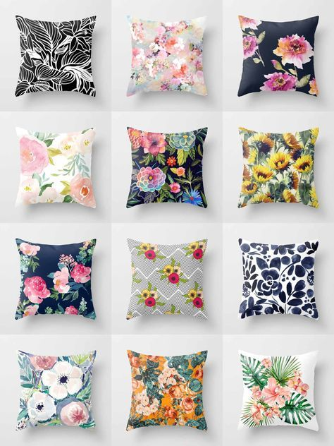 Society6 Floral Throw Pillows - Society6 is home to hundreds of thousands of artists from around the globe, uploading and selling their original works as 30+ premium consumer goods from Art Prints to Throw Blankets. They create, we produce and fulfill, and every purchase pays an artist.