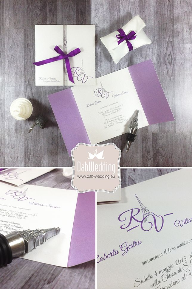Simplicity wedding invitations by www.dab-wedding.eu