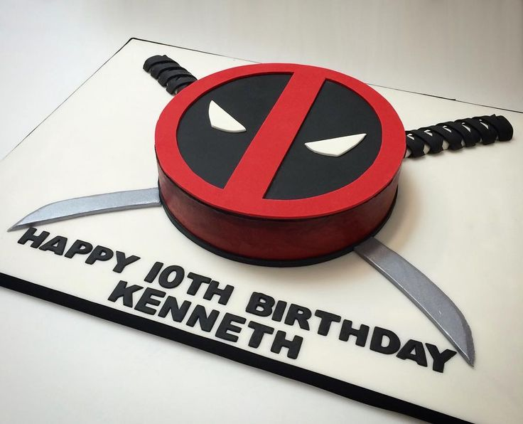 Happy birthday Kenneth! #deliciousarts #customcakes #deadpool #deadpoollogo…