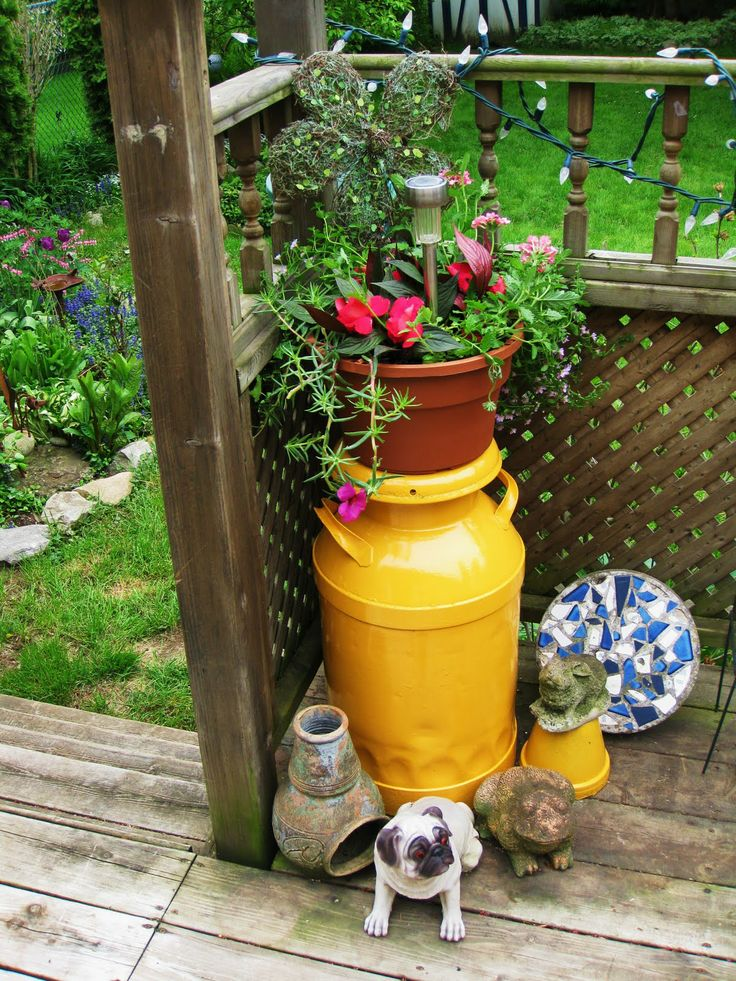 paint milk cans   The Princess and The Pug: Painted Milk Cans