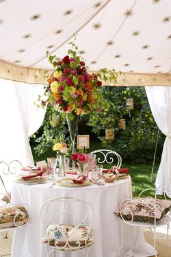 Gorgeous outdoor tea party ~ by Ana Rosa