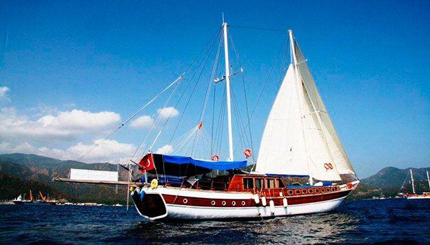 En fantastisk tur med båd i Tyrkiet