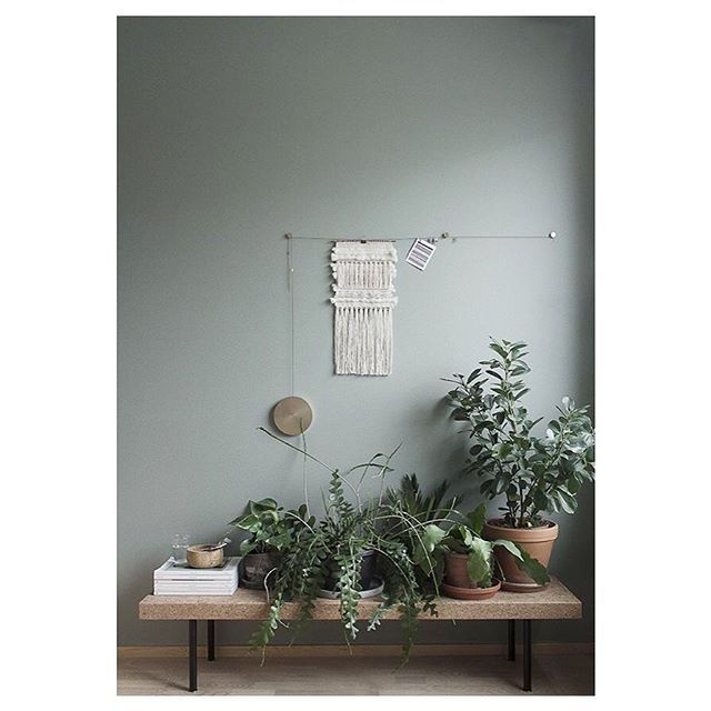 Tranquility. A green wall and a corner full of plants. #entertheloft #interior #design #green #tonsurton #interiordesign #inspiration #home #decor