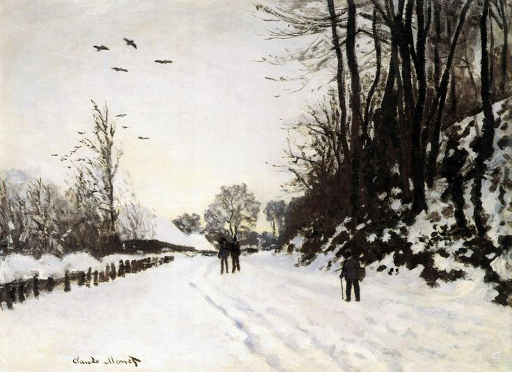 Road by Saint-Siméon Farm in Winter 1867 Oil on canvas, 49 x 65 cm Private collection