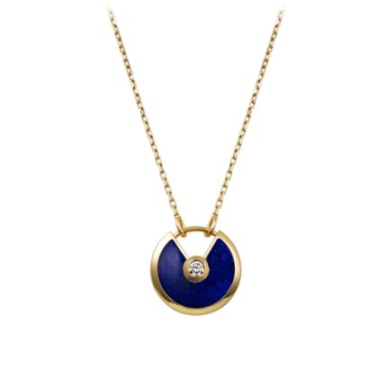 Amulette de Cartier necklace - Yellow gold, lapis lazuli, diamond - Fine Necklaces for women - Cartier