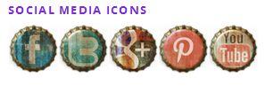 Acurax Social Media Icons - #tutorial per attivare sul #blog delle icone social personalizzate fisse, con 24 stili diversi