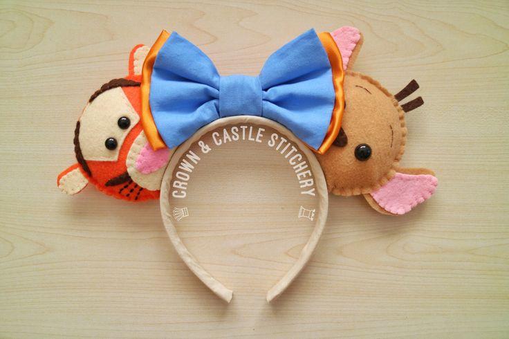 Tigger and Roo Felt Plush Mickey Ears