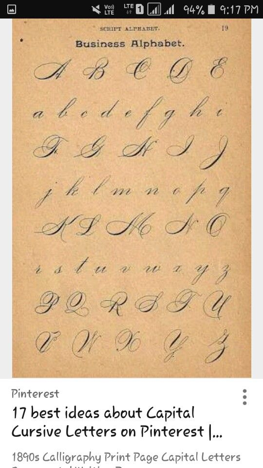 Best ideas about capital cursive letters on pinterest