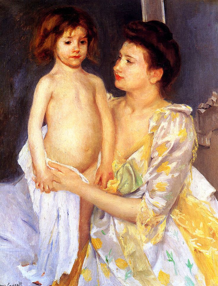 "Cassatt Mary - Jules Being Dried By His Mother  (from <a href=""http://www.oldpainters.org/picture.php?/51007/category/16491""></a>)"