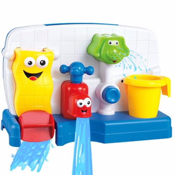 Bathing Beach Swimming Automatic Splashing Water Playing Toy Lovely Faucet Shapes Baby Child Bright Colors Tap Buttressed