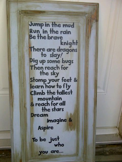 """Solid wood sign. 15"""" x 30"""" Annie Sloan Chalk paint 'Louis Blue' Clear & dark waxed with distressing. $35.00 Will ship within Canada. Follow me on Facebook. Nick Knack of Medicine Hat"""