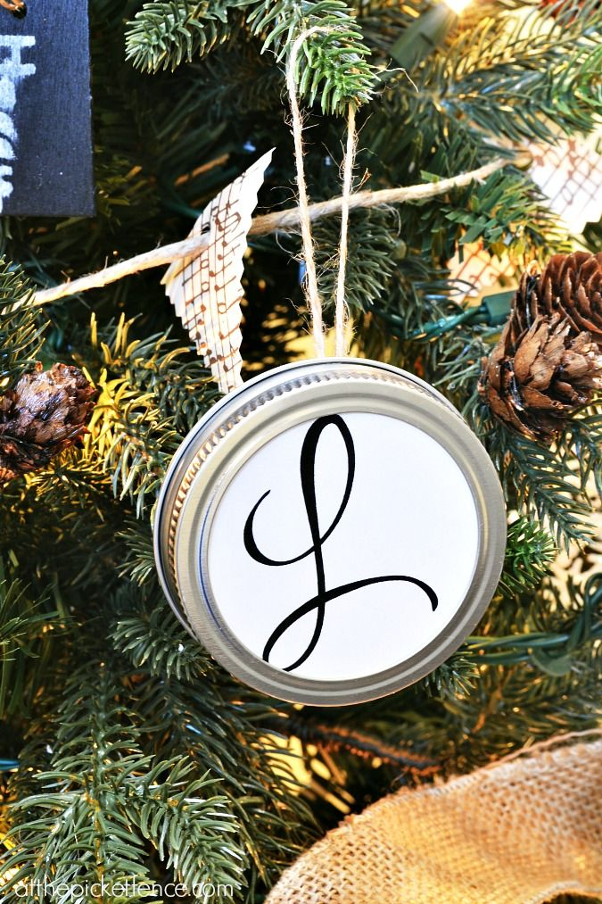 Monogram Themed Christmas Tree with Balsam Hill - At The Picket Fence