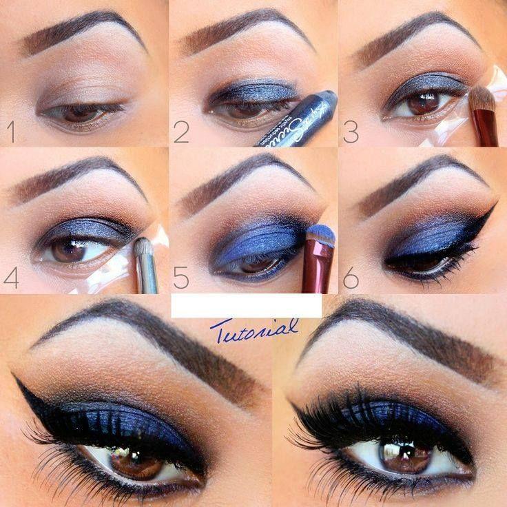Relativ Les 25 meilleures idées de la catégorie Maquillage des yeux bleu  BW89