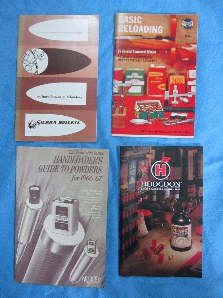 Vintage Powder / Reloading Manuals - set of 4 - Lot 1